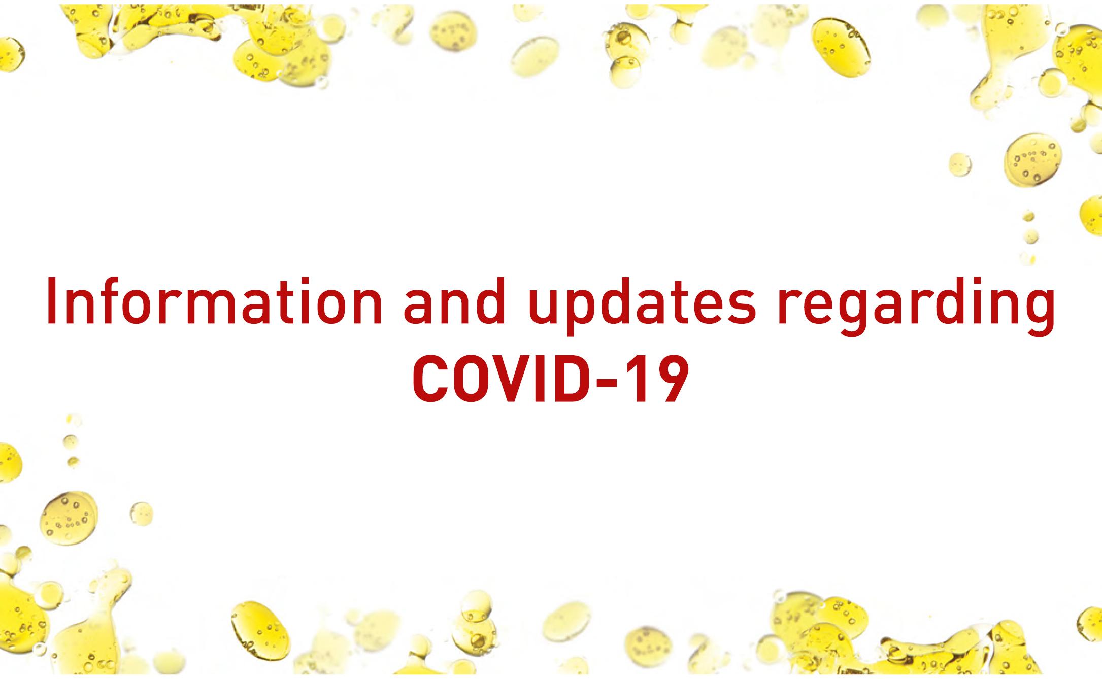 Update: COVID-19 1